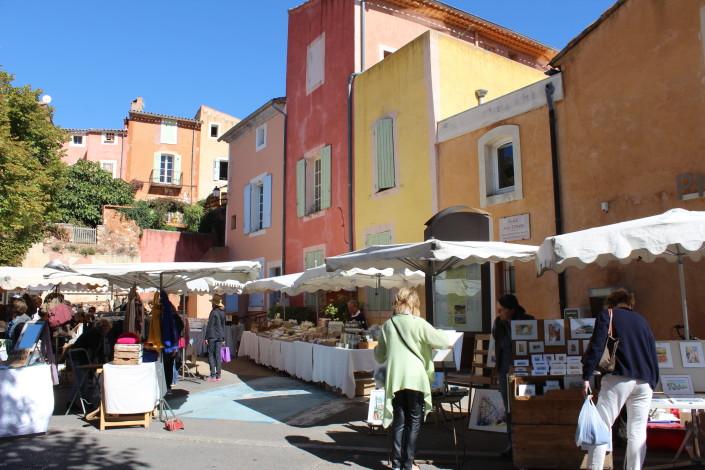 Roussillon provencal market every Thursday