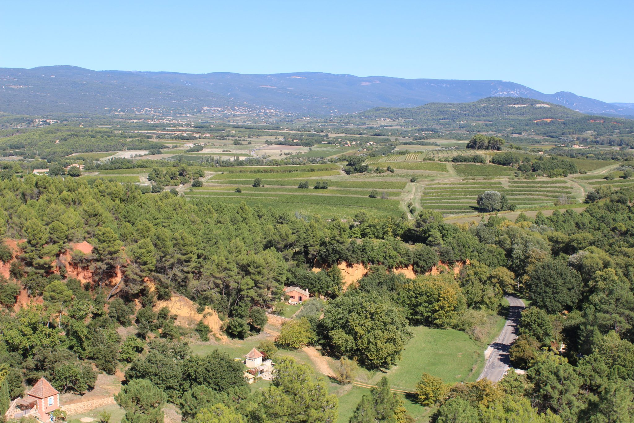 View from the top of Roussillon