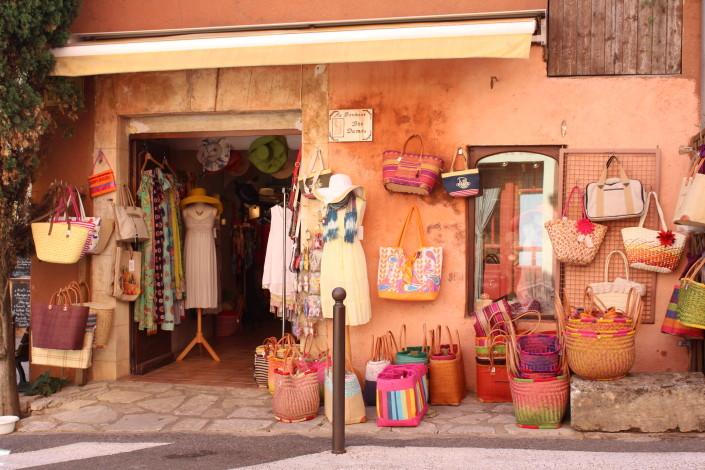 Roussillon village shops